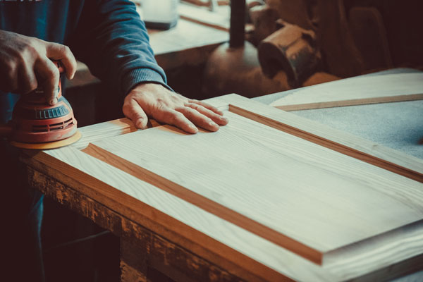 Sanding drawer fronts